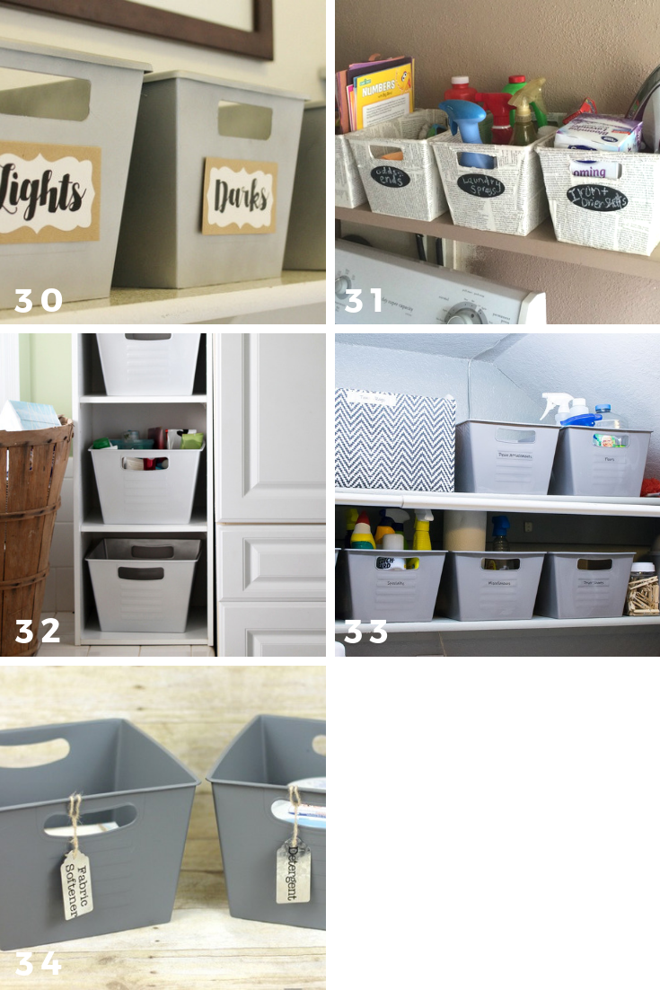 65 ways to organize using dollar tree storage bins laundry