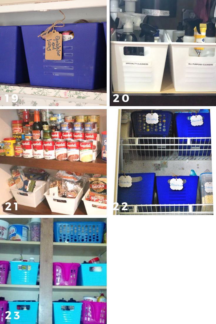 65 ways to organize using dollar tree storage bins pantries