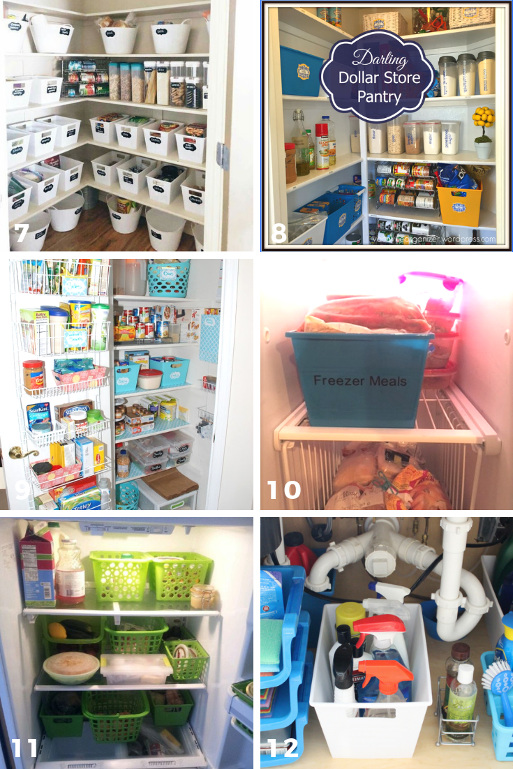 65 ways to organize using dollar tree storage bins pantry