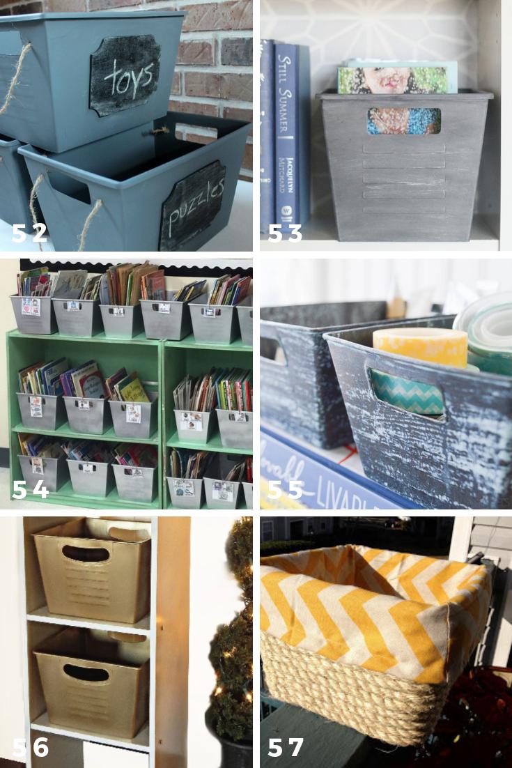 65 Ways To Organize Using Dollar Tree Storage Bins – Practically Functional