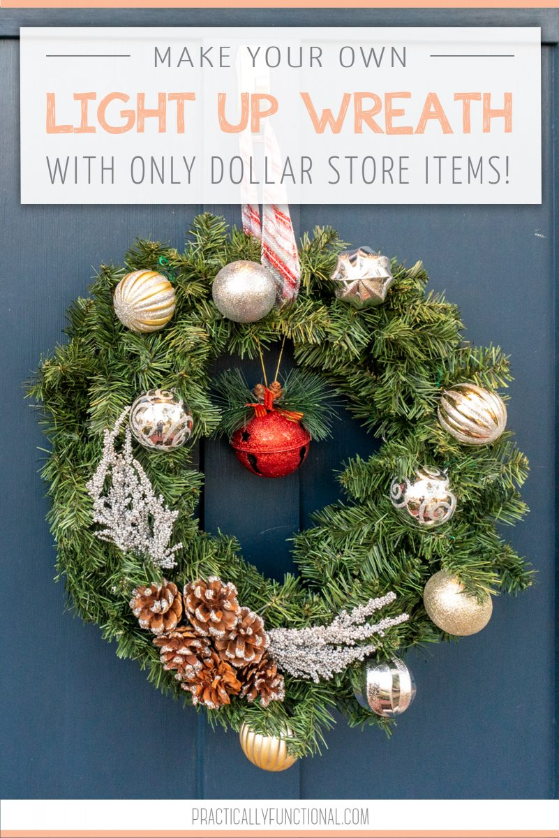 Diy battery operated light up wreath using dollar store items