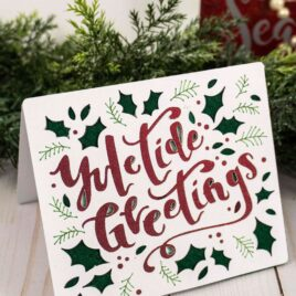 Make a simple yuletide greetings card with a cricut maker