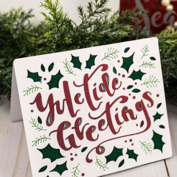 10 Minute Yuletide Greetings Card