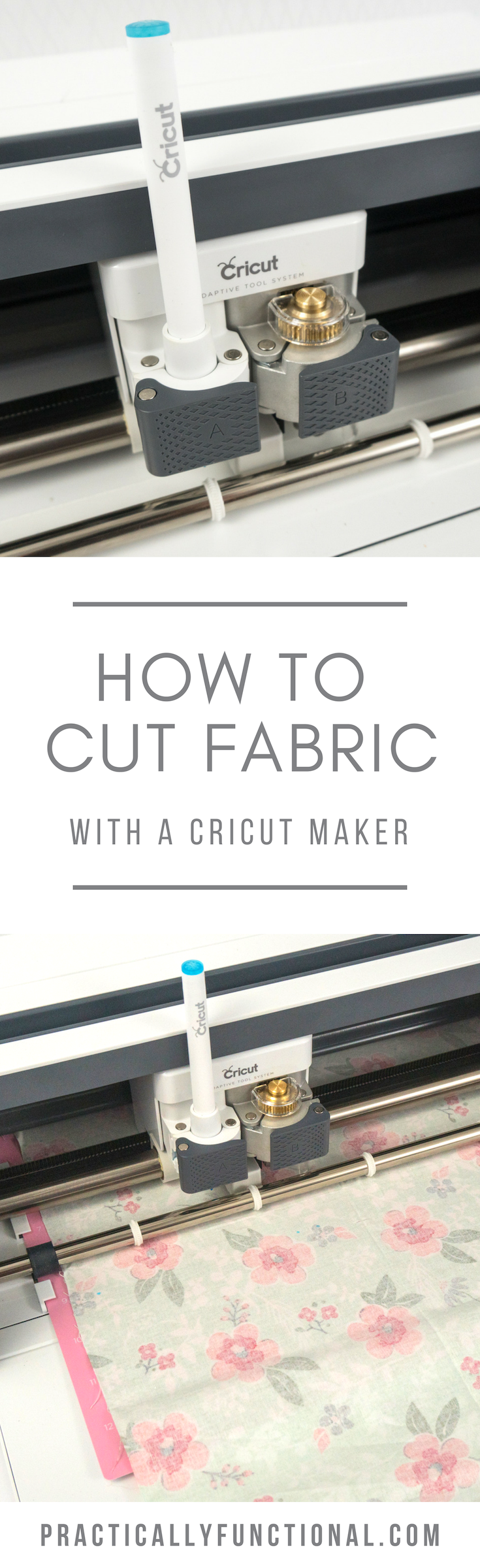 Learn how to cut fabric with a Cricut Maker, plus tips and tricks for getting the best results from your machine and your fabric! #CricutMade #CricutMaker