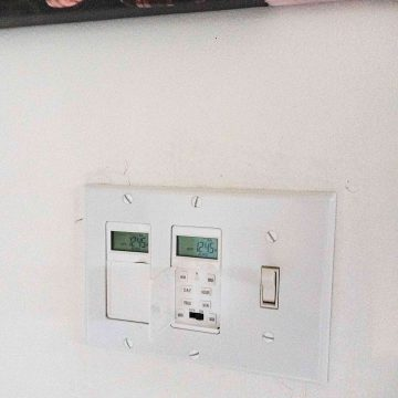 Learn how to install a programmable wall light switch timer