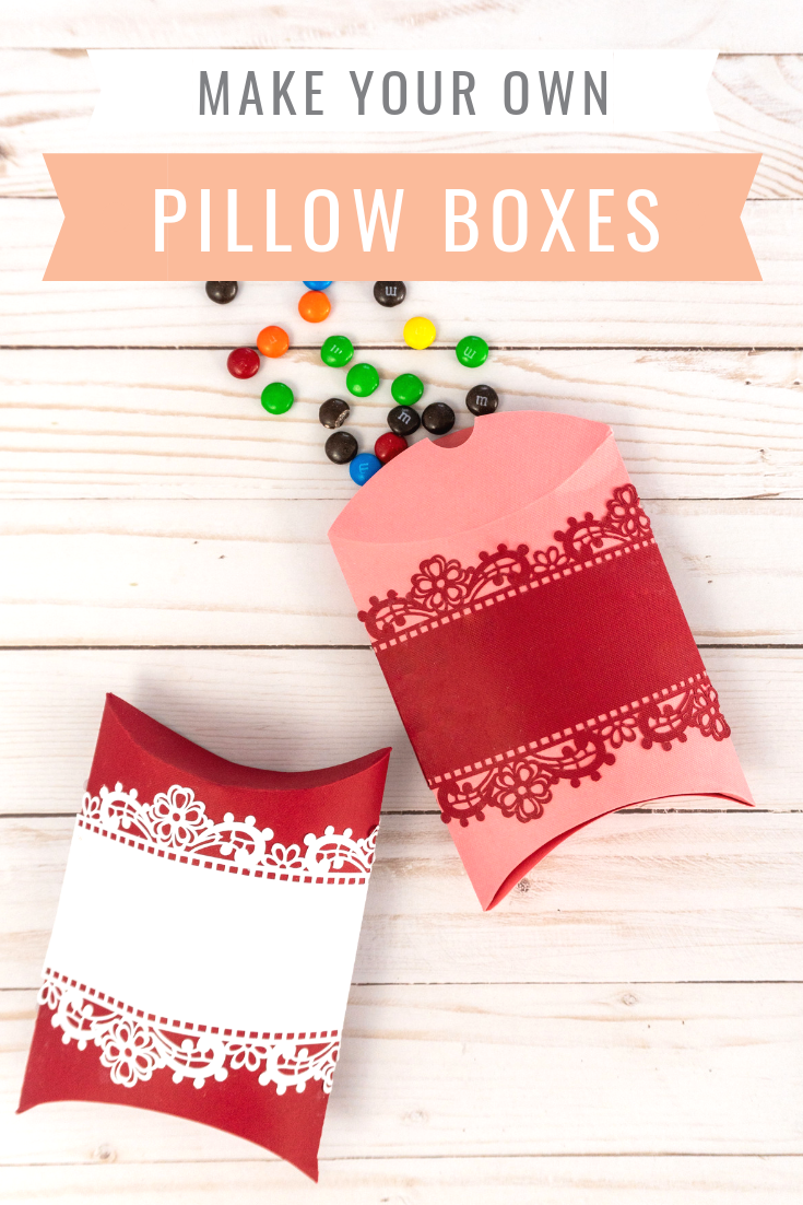Learn how to make a pillow box with a cricut maker and free pillow box template