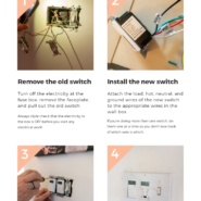 Learn how to replace a regular light switch with a programmable timer switch