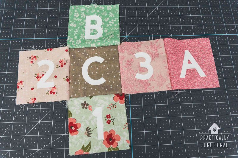 Sew into a cube to make soft baby blocks