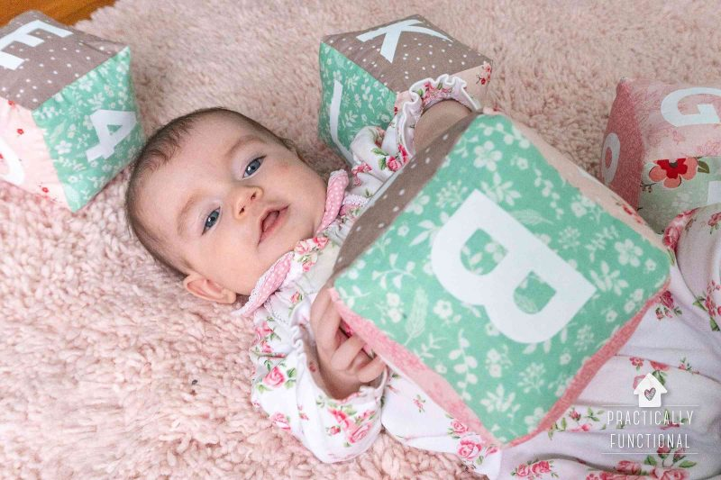Use a cricut maker to make soft baby blocks