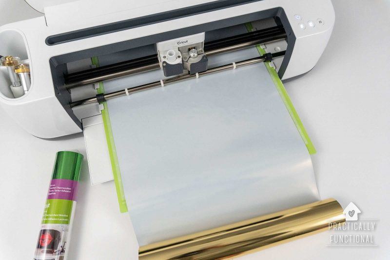 Cricut maker cutting out iron on for st. patricks day shirt
