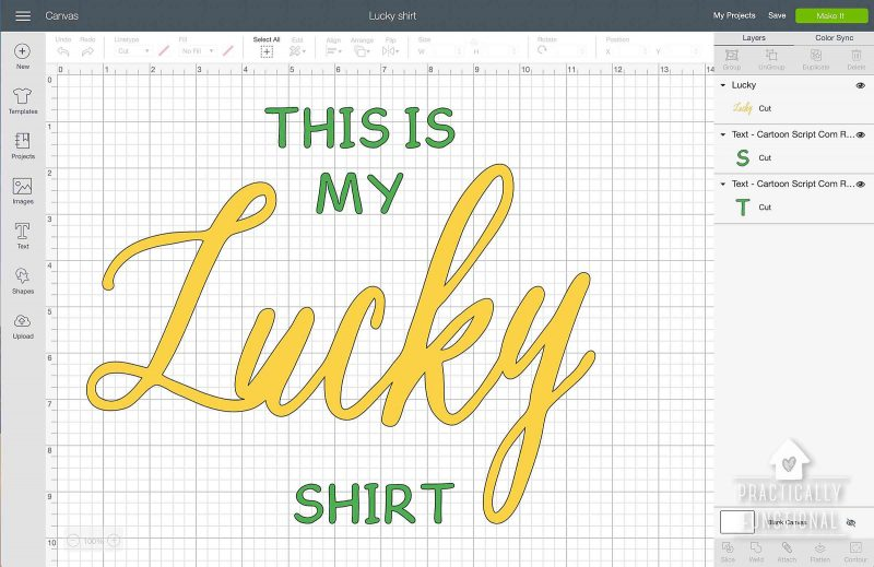 Cricut st. patricks day shirt cut file design
