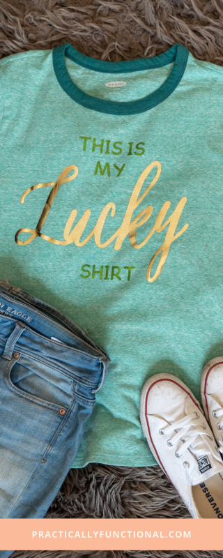 Simple diy st. patricks day shirt with a cricut