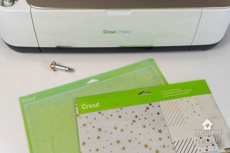 Use a cricut maker to make clear party favor boxes out of foil acetate