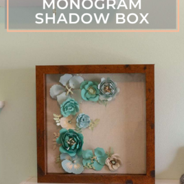 Diy paper flower monogram in a shadow box 1
