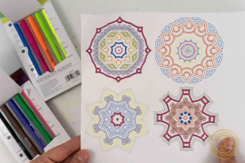 Colors from cricut infusible ink pens and markers are muted on paper