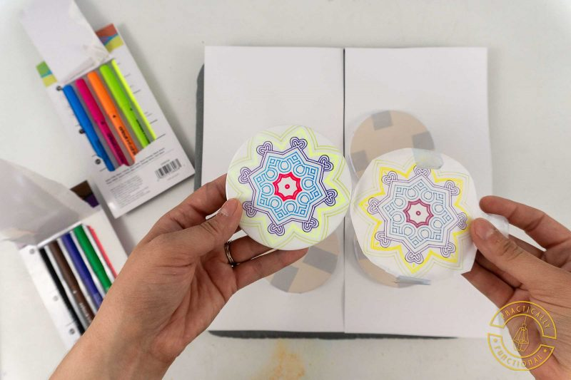 Cricut infusible ink pens and markers are bright and vibrant on ceramic coasters
