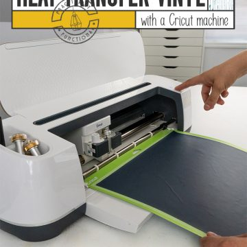 A step by step guide to cutting heat transfer vinyl with a cricut machine