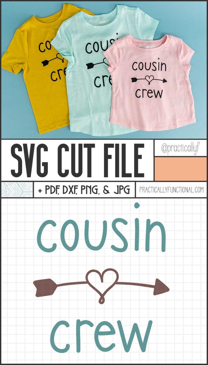 Cousin crew svg cut file bundle
