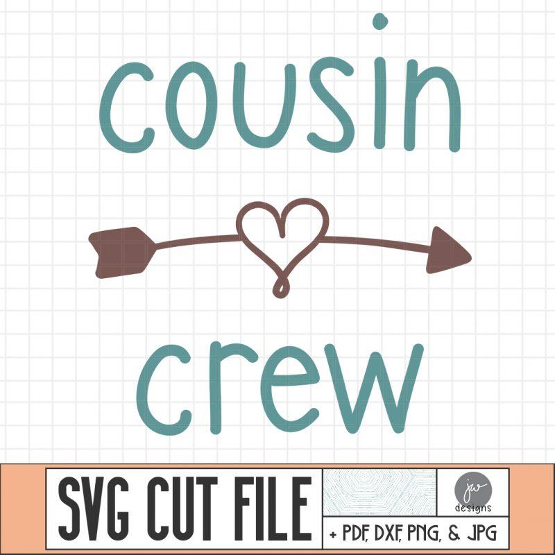 Cousin crew svg cut file thumbnail