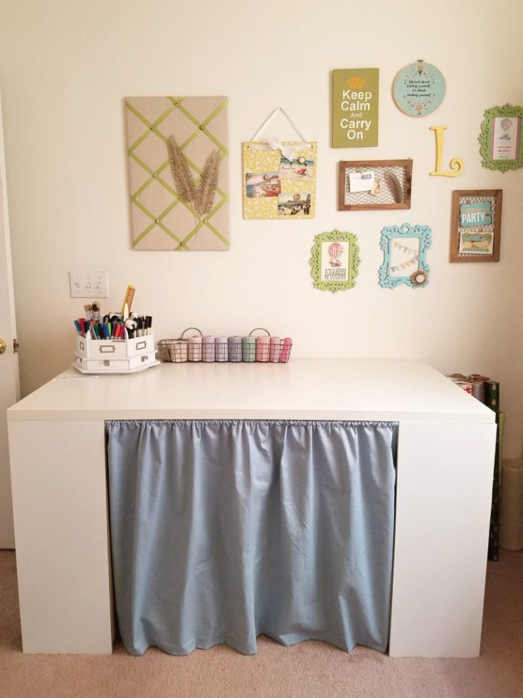 Hide unsightly areas with curtains