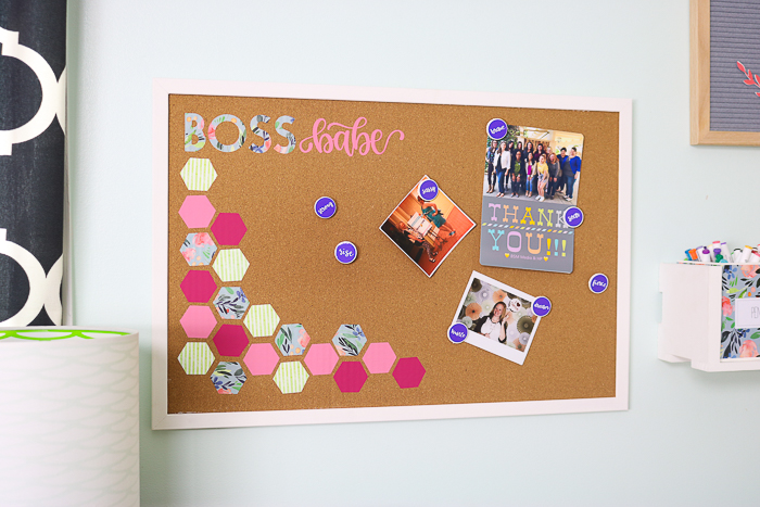 Make your own decorated cork board