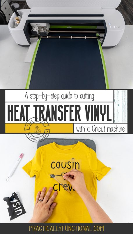 How to cut heat transfer vinyl with a cricut machine and then iron it onto a shirt