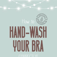 How to hand wash a bra correctly 1