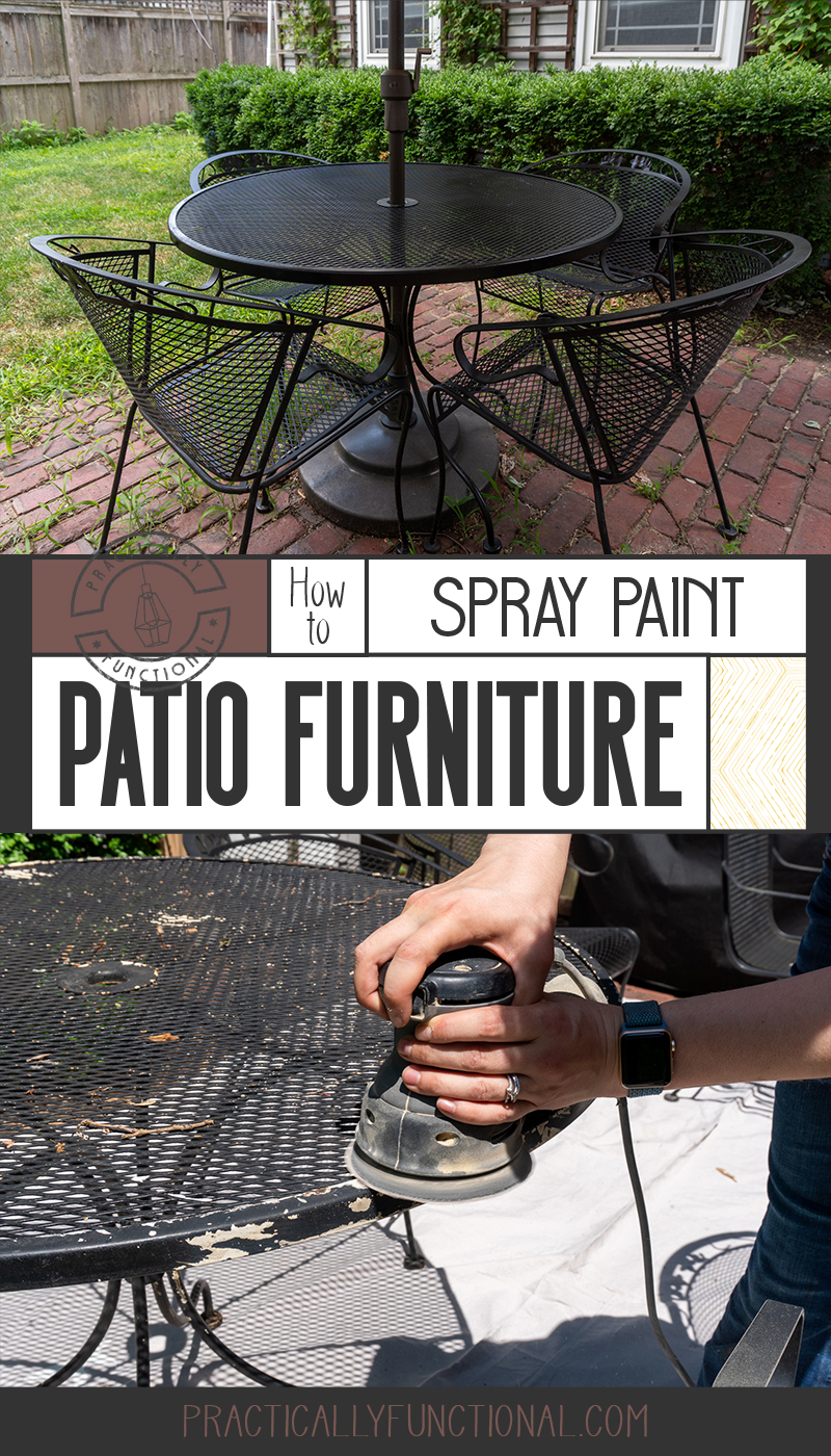 How To Spray Paint Patio Furniture Fix Rust Spots Peeling Paint In 2 Hours