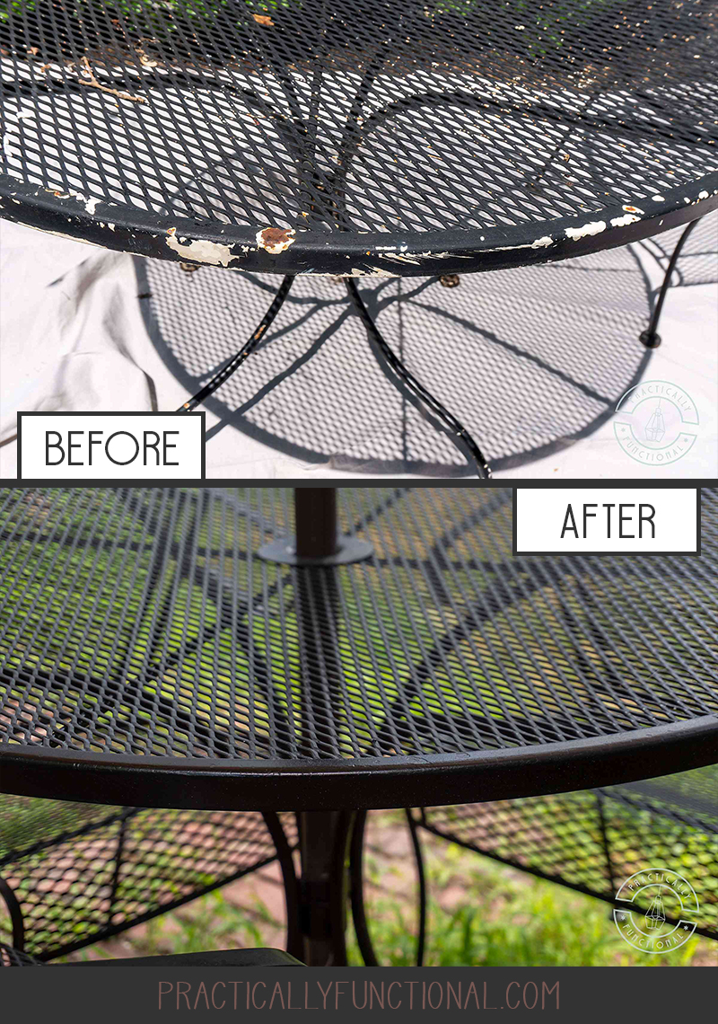 How to spray paint patio furniture and remove rust