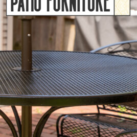 Learn how to spray paint patio furniture
