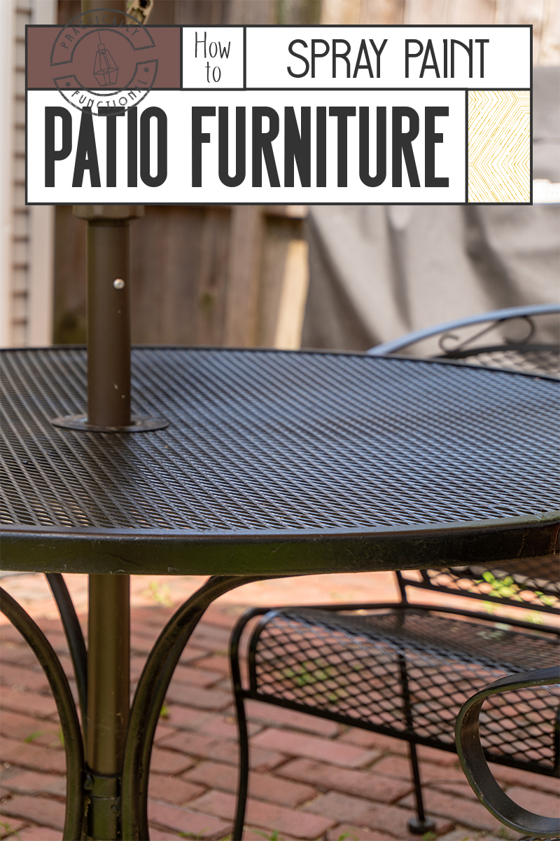How To Spray Paint Patio Furniture Fix Rust Spots Ling In 2 Hours - How To Remove Paint From Metal Garden Table