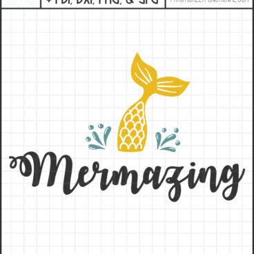Mermazing svg cut file bundle cricut and silhouette