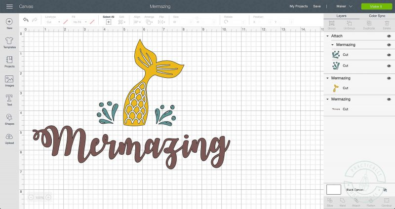 Mermazing svg cut file project to be made with cricut infusible ink transfer sheets