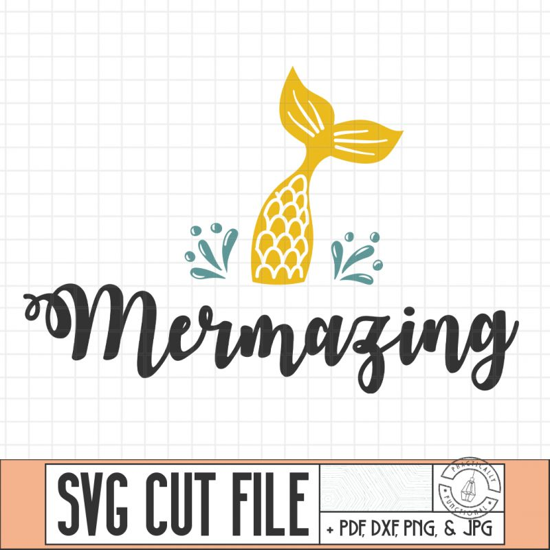 Mermazing svg cut file thumbnail