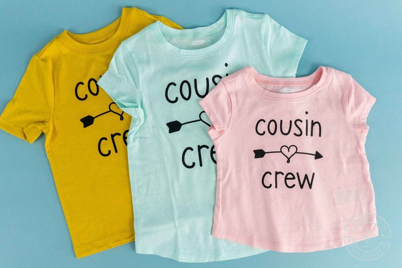T shirts made with cousin crew svg file bundle