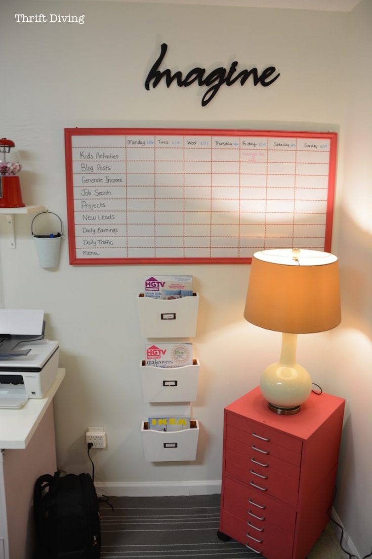 Keep your daily tasks and activities organized with a giant whiteboard
