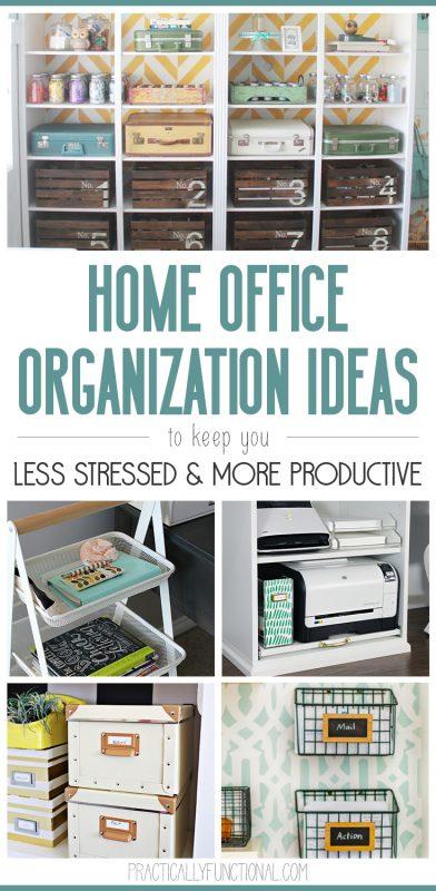 21 home office organization ideas