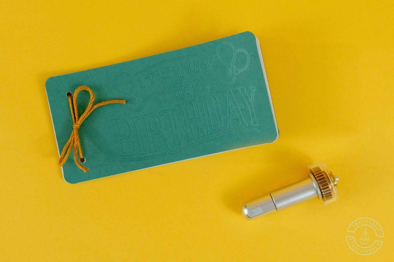 How to make a birthday coupon book with decorative cover using a cricut maker and the fine debossing tip