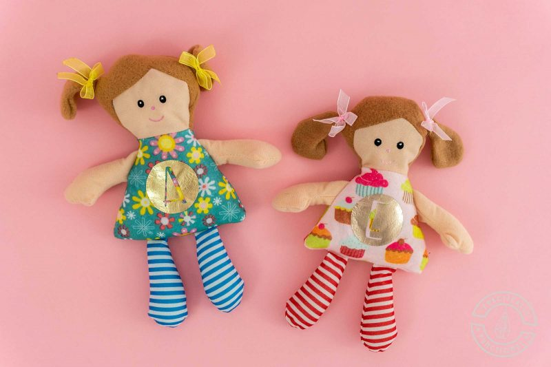 How to make personalized stuff dolls or animals with a cricut easypress mini