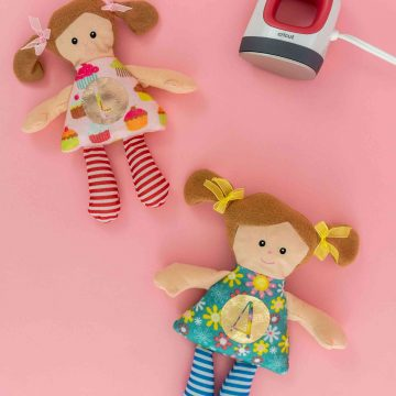 How to make personalized stuffed animals or dolls with the cricut easypress mini