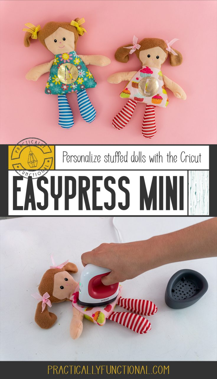 Make your own personalized stuffed animals or dolls with the new Cricut EasyPress Mini! Perfect for small or odd-shaped projects like hats, shoes, shirt sleeves, cuffs, pockets, and stuffed animals!
