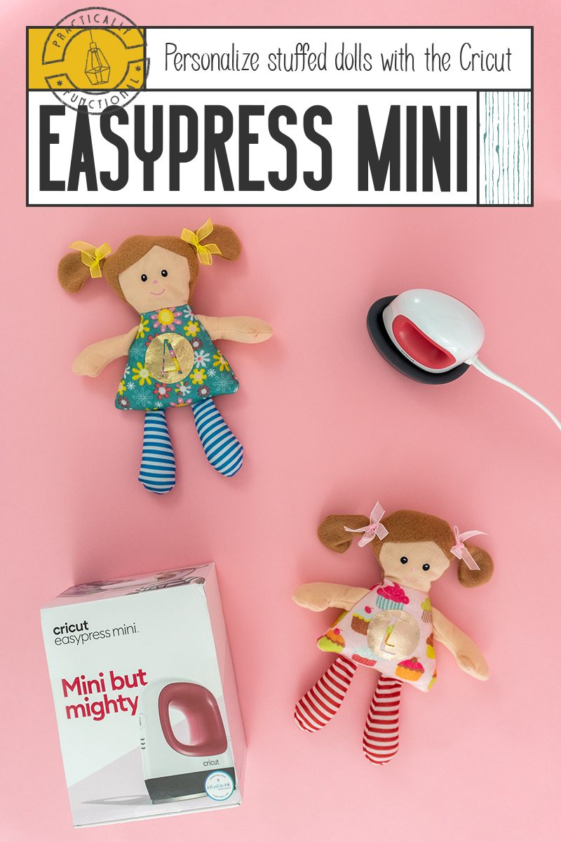 Make your own personalized stuffed animals or dolls with the cricut easypress mini