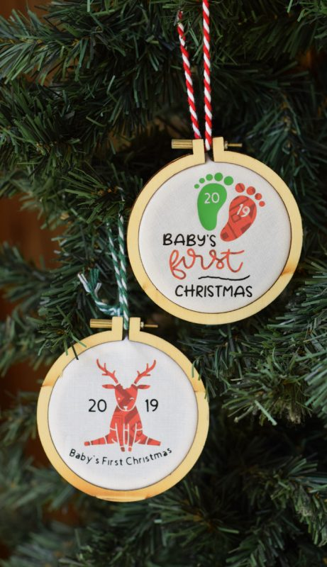 Babys first christmas ornaments cricut