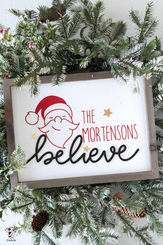 Diy believe sign