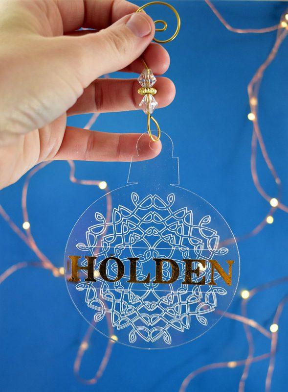 Engraved snowflake ornaments acrylic cricut maker dreamalittlebigger 10