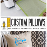 How to make my favorite people call me nonna and poppa pillows with cricut maker