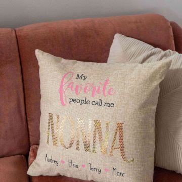 How to make my favorite people call me nonna personalized grandparents gift with a cricut maker