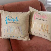How To Make Personalized Grandparent Pillows