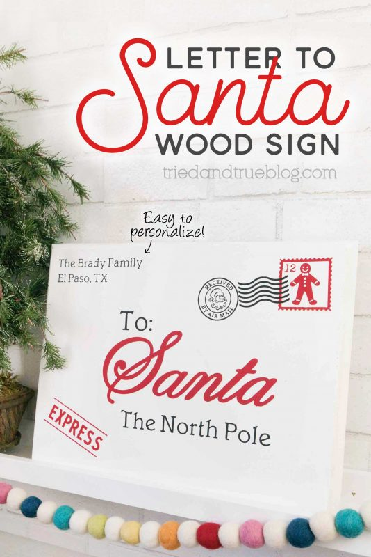 Personalized letter to santa wood sign edit01