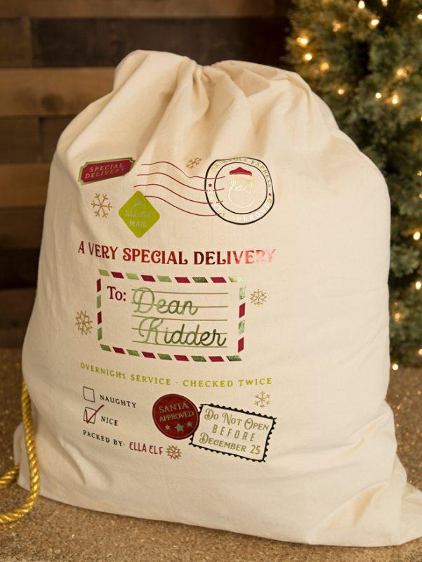 St diy personalized santa bags cricut 0002
